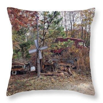 Junk Road Throw Pillow