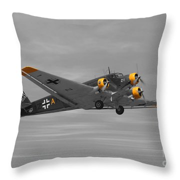 Junkers Ju 52 Throw Pillow by Tommy Anderson