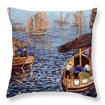 Junk Boat Throw Pillows
