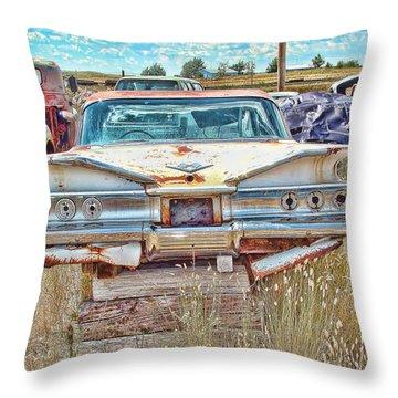 Junkyard Series 1960's Chevrolet Impala Throw Pillow