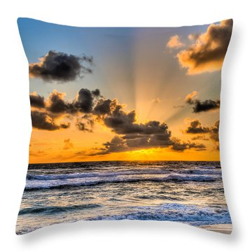 Juno Beach Sunrise Throw Pillow