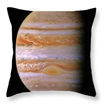 Jupiter And The Spot Throw Pillow by Benjamin Yeager