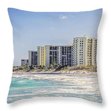 Jupiter Beach Life Throw Pillow