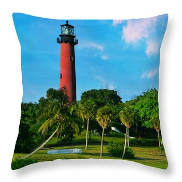 Jupiter Florida Lighthouse Throw Pillow