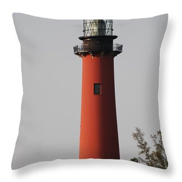 Jupiter Lighthouse Throw Pillow by George Mount