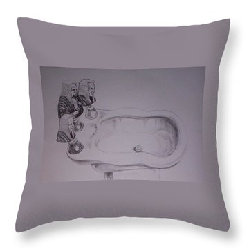 Throw Pillow featuring the drawing Jurisbidencia by Lazaro Hurtado