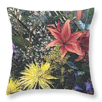 Throw Pillow featuring the photograph Just A Boquet by Scott Kingery