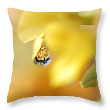 Just A Drop Of Spring Throw Pillow