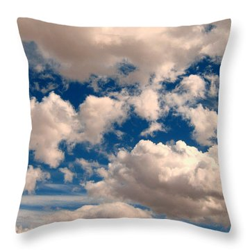Throw Pillow featuring the photograph Just A Face In The Clouds by Janice Westerberg