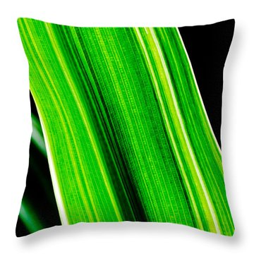 Just A Green Leaf Throw Pillow