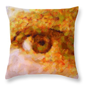 Just A Look Throw Pillow by RochVanh