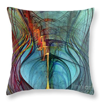 Just A Melody-abstract Art Throw Pillow