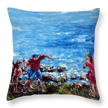Just A Pebble In The Water Throw Pillow