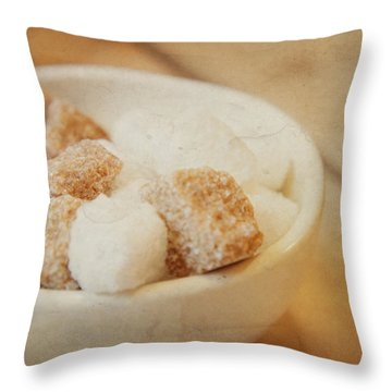 Just A Spoonful Of Sugar Throw Pillow by TK Goforth