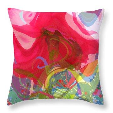 Just A Wild And Crazy Rose Throw Pillow by Brooks Garten Hauschild