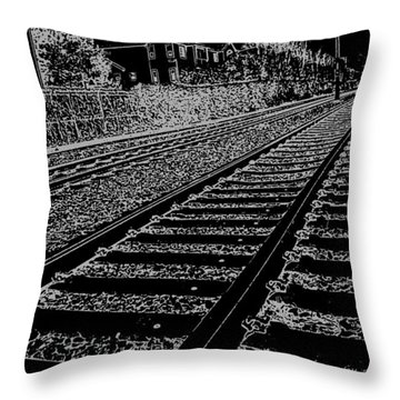 Throw Pillow featuring the photograph Just About Now by Nick David