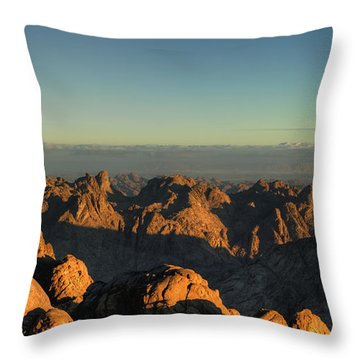 Throw Pillow featuring the pyrography Just After Sunrise by Julis Simo