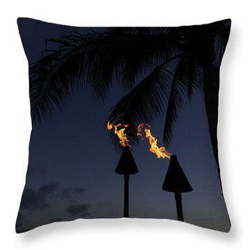 Just After Sunset The Beach Party Is Starting Throw Pillow