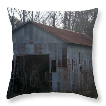 Just An Old Barn Throw Pillow