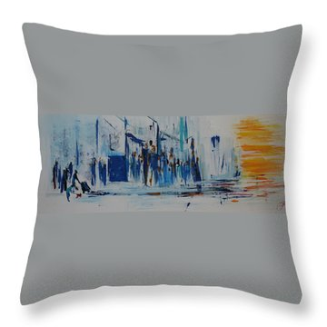 Just Another Day In New York City Throw Pillow