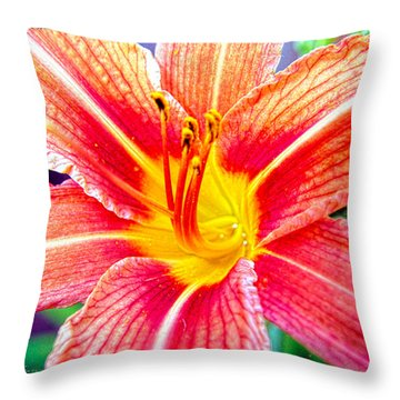 Just Another Day Lilly Throw Pillow