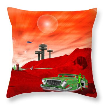 Just Another Day On The Red Planet 2 Throw Pillow by Mike McGlothlen