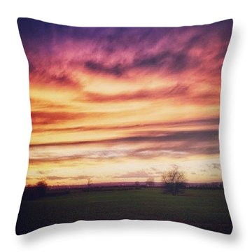 Just Another Sunset :) Throw Pillow