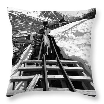 Just Around The Bend Throw Pillow by Dani Abbott