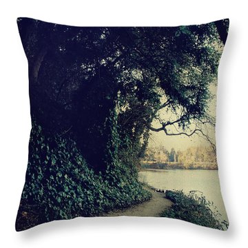 Just Around The Corner Throw Pillow by Laurie Search