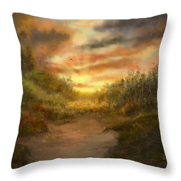 Just Before Darkness Throw Pillow by Sena Wilson