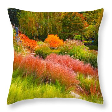 Just Being Natural In A Garden Throw Pillow