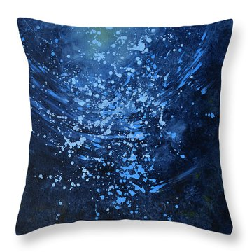 Just Beneath The Surface Throw Pillow by Kim Sobat