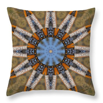 Throw Pillow featuring the photograph Just Breathe by Betty Denise