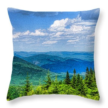 Just Breathe Deeply - Impressions Of Mountains Throw Pillow