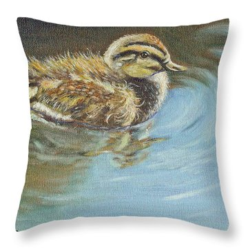 Just Ducky Throw Pillow