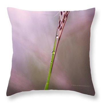 Just Few Drops Throw Pillow by Rima Biswas