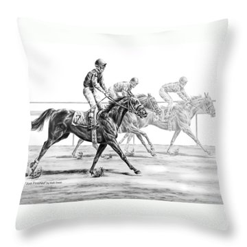 Just Finished - Horse Racing Print Throw Pillow