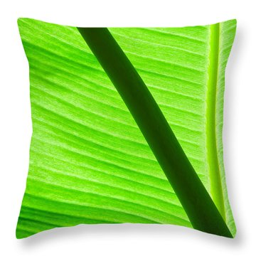 Just Green Beauty Throw Pillow