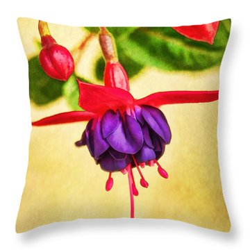 Just Hanging Around Throw Pillow by Peggy Hughes