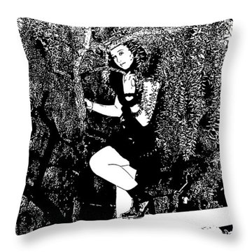 Throw Pillow featuring the photograph Just In Time by Nick David