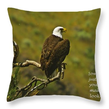 Just Knowing Throw Pillow by Jeff Swan