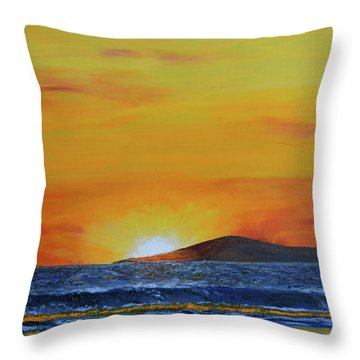 Just Left Maui Throw Pillow by Suzette Kallen
