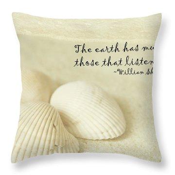 Just Listen Throw Pillow