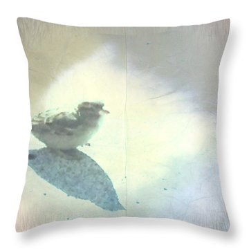 Just Me An My Shadow Throw Pillow by Sherry Flaker