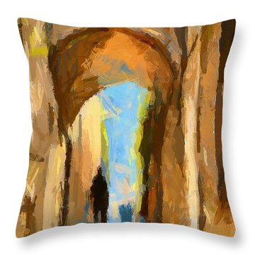 Just Me And My Shadow Throw Pillow by Dragica  Micki Fortuna