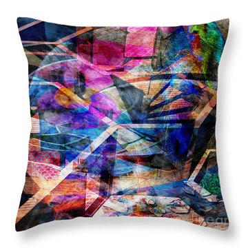 Just Not Wright - Square Version Throw Pillow