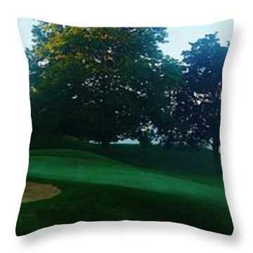 Just Off The Green Throw Pillow