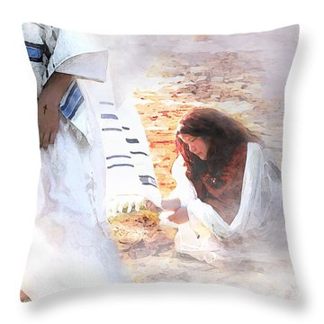 Just One Touch Throw Pillow