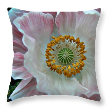 Just Opened Throw Pillow by Barbara St Jean