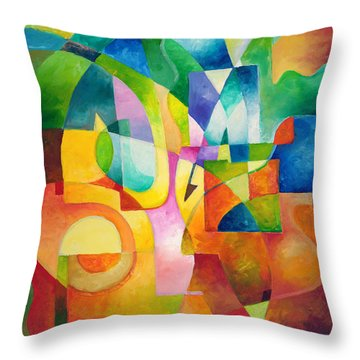 Just Outside Throw Pillow